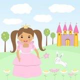 Happy little princess Stock Photography
