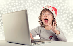 Happy little Santa Royalty Free Stock Photo