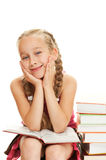 Happy little schoolgirl Stock Images