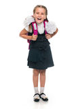Happy Little schoolgirl Stock Photo