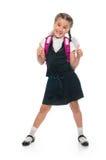 Happy Little schoolgirl Royalty Free Stock Photo