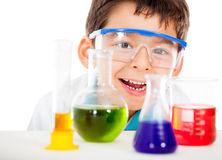 Happy little scientist Stock Photos