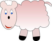 Happy little sheep. Illustration of happy female sheep royalty free illustration