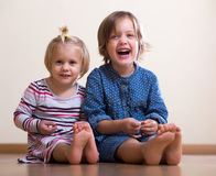 Happy little sisters Royalty Free Stock Photography