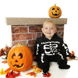 Happy Little Skeleton Royalty Free Stock Photography