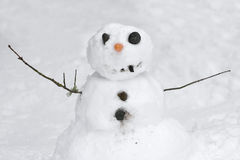 Happy little snowman Royalty Free Stock Photos