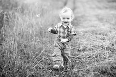 Happy little son Royalty Free Stock Photography