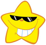Happy little star with sunglasses royalty free illustration