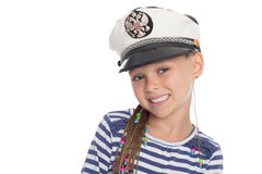 Happy little in a suit cabin boy Royalty Free Stock Images