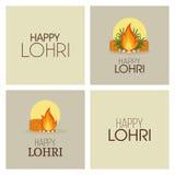 Happy lohri background Royalty Free Stock Photography
