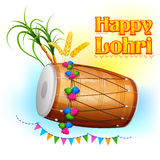 Happy Lohri background Royalty Free Stock Photo