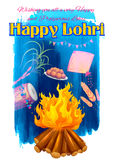 Happy Lohri background Royalty Free Stock Image