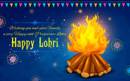 Happy Lohri background Stock Images
