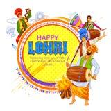 Happy Lohri holiday background for Punjabi festival. Illustration of Happy Lohri holiday background for Punjabi festival Stock Photo