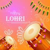 Happy Lohri holiday festival of Punjab India. Vector illustration of Happy Lohri holiday festival of Punjab India Royalty Free Stock Images