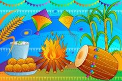 Happy Lohri Punjab festival celebration background Royalty Free Stock Photos