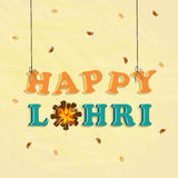 Happy Lohri, Punjabi festival celebration. Royalty Free Stock Photography