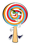 Happy lollipop cartoon Royalty Free Stock Photography