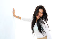 Happy long hair woman Royalty Free Stock Images