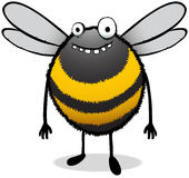 Happy Looking Bee Cartoon Character Stock Images