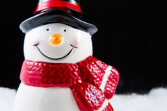 Happy looking snowman smiling in Christmas day. Happy looking snowman smiling in Christmas day Stock Photo