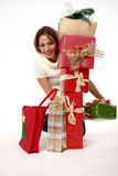 Happy With Lots Of Presents Stock Photography