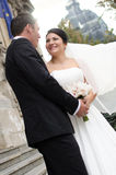 Happy in love newlyweds Royalty Free Stock Photography