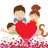Happy Lovely Family royalty free illustration