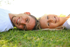 Happy Lovely Young Caucasian Couple Outdoor royalty free stock images