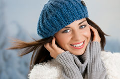 Happy lovely young woman Royalty Free Stock Image
