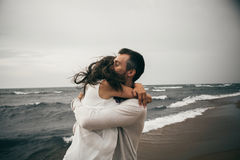 Happy lovers royalty free stock photo