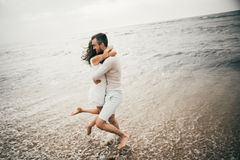 Happy lovers. Lovers enjoy life and love each other Stock Photos