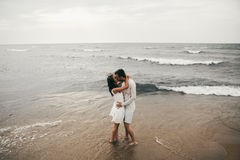 Happy lovers. Lovers enjoy life and love each other Stock Images