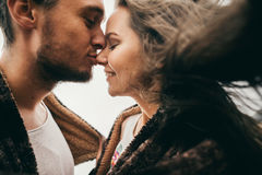 Happy lovers. Lovers enjoy life and love each other Royalty Free Stock Photography