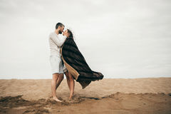 Happy lovers. Lovers enjoy life and love each other Stock Photography