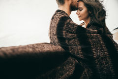 Happy lovers. Lovers enjoy life and love each other Royalty Free Stock Photos