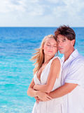 Happy lovers in honeymoon Royalty Free Stock Photos