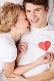Happy lovers Stock Images