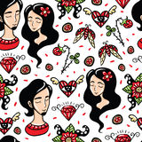 Happy Lovers Seamless Pattern Royalty Free Stock Photography