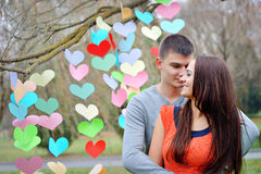 Happy lovers on Valentine's Day Stock Photography
