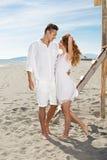 Happy loving couple on a beach Stock Photo