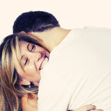 Happy Loving Couple Embracing Royalty Free Stock Images