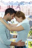 Happy loving couple embracing Stock Images