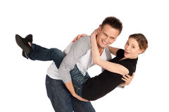 Happy Loving Couple Fun Royalty Free Stock Images
