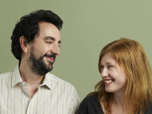 Happy Loving Couple Looking At Each Other Royalty Free Stock Image