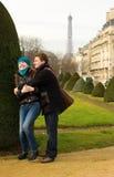 Happy loving couple in Paris Stock Photo