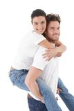 Happy loving couple smiling Stock Photography