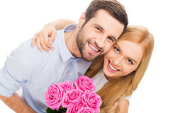 Happy loving couple. stock images