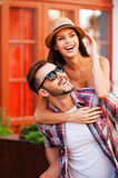Happy loving couple. Royalty Free Stock Images