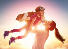 Happy loving family stock image